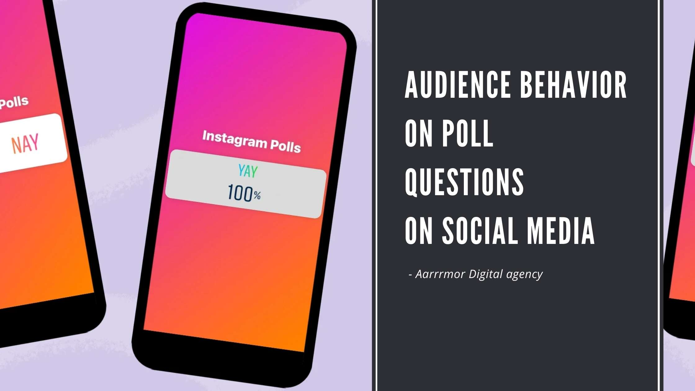 Poll Question on Social Media Platforms to understand Audience Behavior