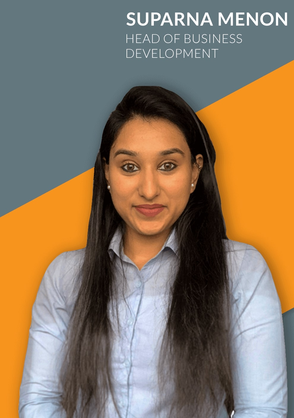 a passionate agency head of business development - suparna representing her team